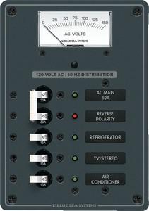 AC Circuit Breaker Main & 3 Position Panel