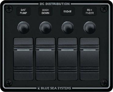 Contura Rocker Switch Black Panel 4 Position