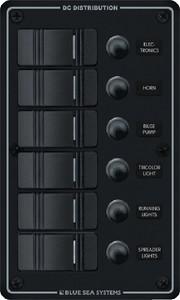 Contura Rocker Switch White Panel 6 Position