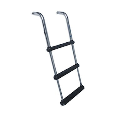 Large Under Platform Telescoping 3 Step Boat Ladder