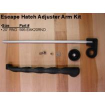 """JIM BLACK ESCAPE HATCH ADJUSTER ARM 20"""" ROUND HI-TIDE MANUFACTURING 595-EAK20RND"""
